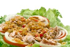 Free Thai Spicy Tuna Salad Royalty Free Stock Images - 15956609