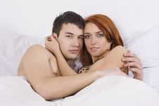 Free Young Couple At Bedroom Stock Image - 15956741