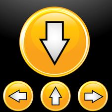 Free Vector Set Of Arrow Button Royalty Free Stock Image - 15956876