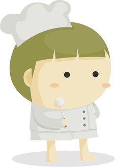 Little Cute Chef Stock Photo
