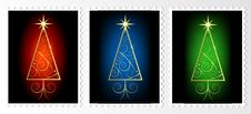 Free Christmas Stamps Royalty Free Stock Image - 15958616