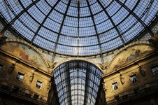 Skylight Of Galleria Vittorio Emanuele Ⅱin Milan