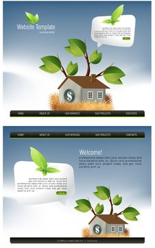 Free Website Template Royalty Free Stock Photos - 15959518
