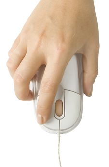 Free Computer Mouse In Hand Stock Images - 15959694