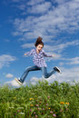 Free Girl Jumping Outdoor Stock Photo - 15962280