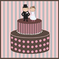 Free Valentine Card With Cupcake And Hearts. Royalty Free Stock Photo - 15968505