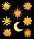 Free Sun Icons Set Stock Photo - 15969260