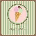 Free Ice Cream Greeting Card Royalty Free Stock Photo - 15969525