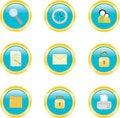 Free Web Icons Set Royalty Free Stock Images - 15969699