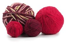 Free Four Colored Wool Clews Stock Images - 15960704