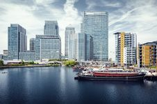 Canary Wharf, London Stock Photos
