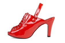 Free Red Leather Shoe | Isolated Royalty Free Stock Photo - 15961015