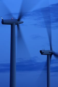 Free Wind Turbines Royalty Free Stock Photography - 15962177