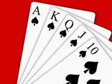 Free Royal Flush Stock Photo - 15962750