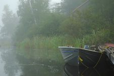 Free Boat On Misty Lake Royalty Free Stock Photography - 15963427
