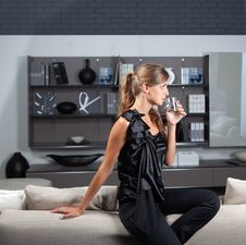 Elegant Woman In Home Interior Stock Images