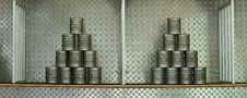 Free Pyramid Of Stacked Cans Royalty Free Stock Images - 15964499