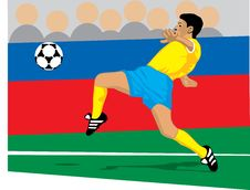 Free Colored Soccer Player About To Recieve A Pass Royalty Free Stock Image - 15965666