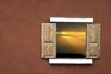 Free Sunset On  Through The Windows Stock Photography - 15966622