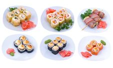 Free Rolled And Sushi Set Stock Photo - 15966630