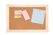 Free Corkboard With Empty Blue Pink And Yellow Notes Royalty Free Stock Images - 15966779