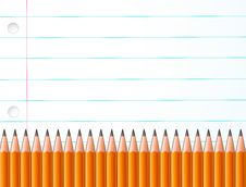 Free Pencils And Paper Royalty Free Stock Photo - 15966795