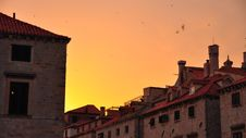Free Sunset In Dubrovnik, Croatia Stock Image - 15967431