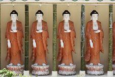 Four Buddhas Stock Image
