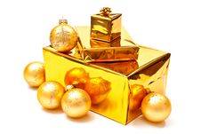 Free Presents And Christmas Balls Royalty Free Stock Images - 15968319