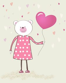 Free Cute  Teddy Bear With Patch Royalty Free Stock Photography - 15968907