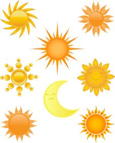 Free Sun Symbol. Royalty Free Stock Image - 15969206