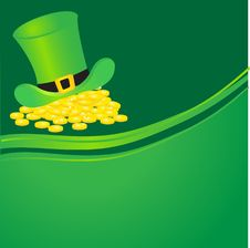 Free Hat With Gold Coins. Stock Photography - 15969302
