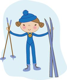 Free Baby Girl Skier Stock Image - 15969331