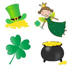 St. Patrick Icons Set. Stock Images
