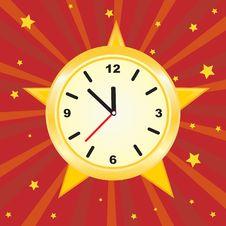 Free Golden Clock Royalty Free Stock Photo - 15969505