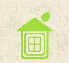 Green Ecology House Royalty Free Stock Photo