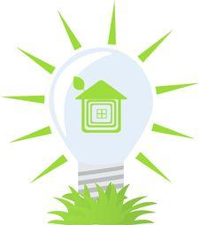 Free Ecology Green Bulb. Royalty Free Stock Photos - 15969568
