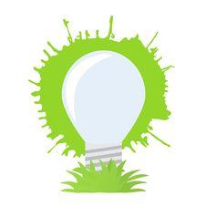 Free Ecology Green Bulb. Stock Image - 15969571