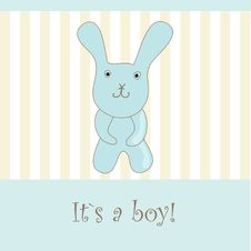Free Baby Boy Arrival Announcement Set. Stock Image - 15969861