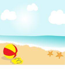 Beach Ball. Royalty Free Stock Image