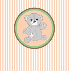 Free Cute  Teddy Bear With Patch Stock Photo - 15969890