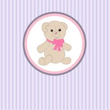 Free Cute  Teddy Bear With Patch Stock Images - 15969894