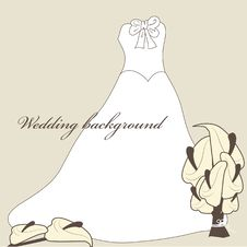 Free Wedding Dress. Royalty Free Stock Images - 15969959