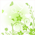 Free Floral Card With Butterflies Royalty Free Stock Photo - 15970205