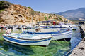Free Small Boats Anchored In A Small Harbor Royalty Free Stock Images - 15975939
