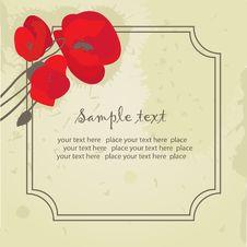 Free Vintage Floral Frame. Stock Images - 15970034