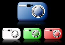 Free Camera Web Icon Royalty Free Stock Photo - 15970125