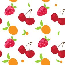 Free Vintage Seamless Pattern With Fruits Royalty Free Stock Images - 15970359