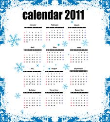Free Calendar 2011 Stock Image - 15971441