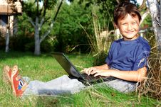 Free Boy With Notebook Stock Photo - 15973560